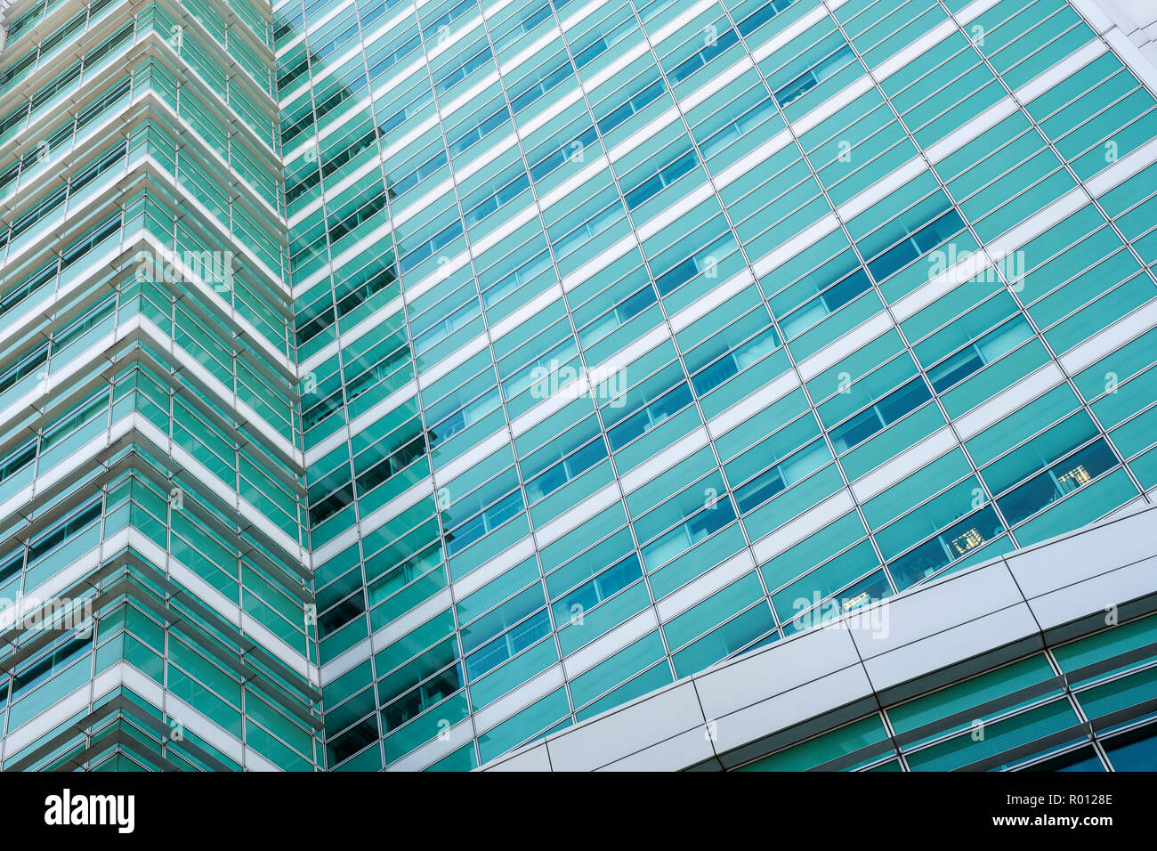 University college hospital building abstract, London, England - Stock Image