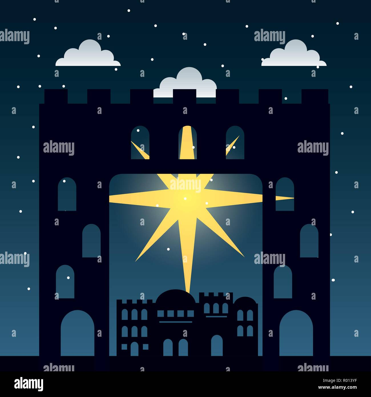 manger epiphany christmas - Stock Vector