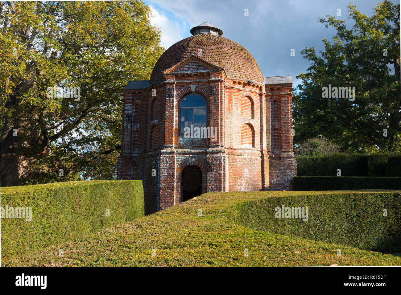 Summerhouse in the garden of The Vyne; Tudor stately home. The Vyne is a 16th-century estate and country house nr Sherborne St John nr Basingstoke UK - Stock Image
