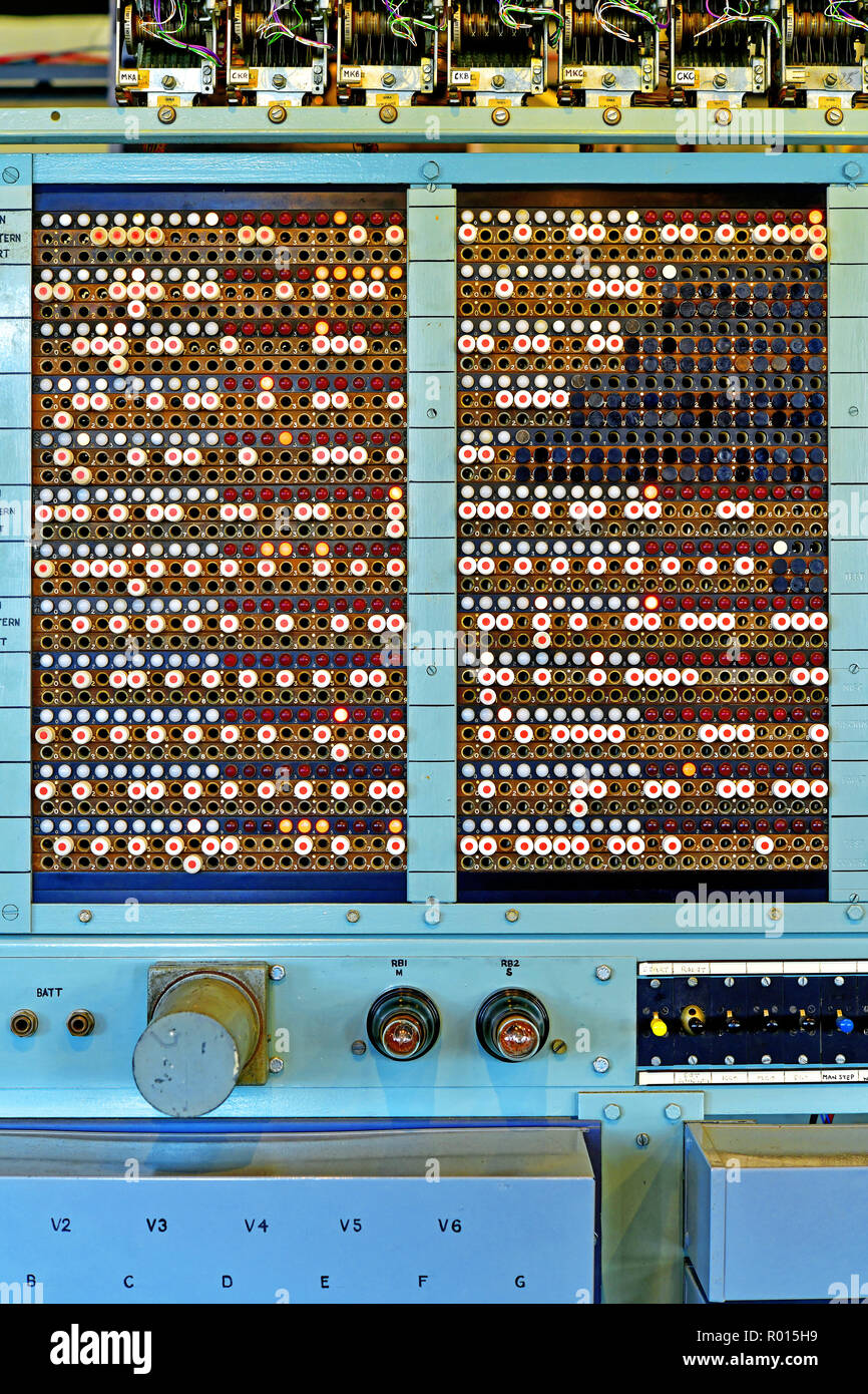 Bletchley Park part of  Colossus decoding machine Stock Photo