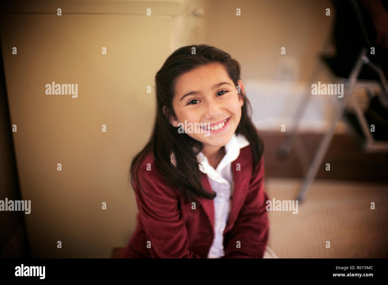 Portrait of an adorable young girl. - Stock Image