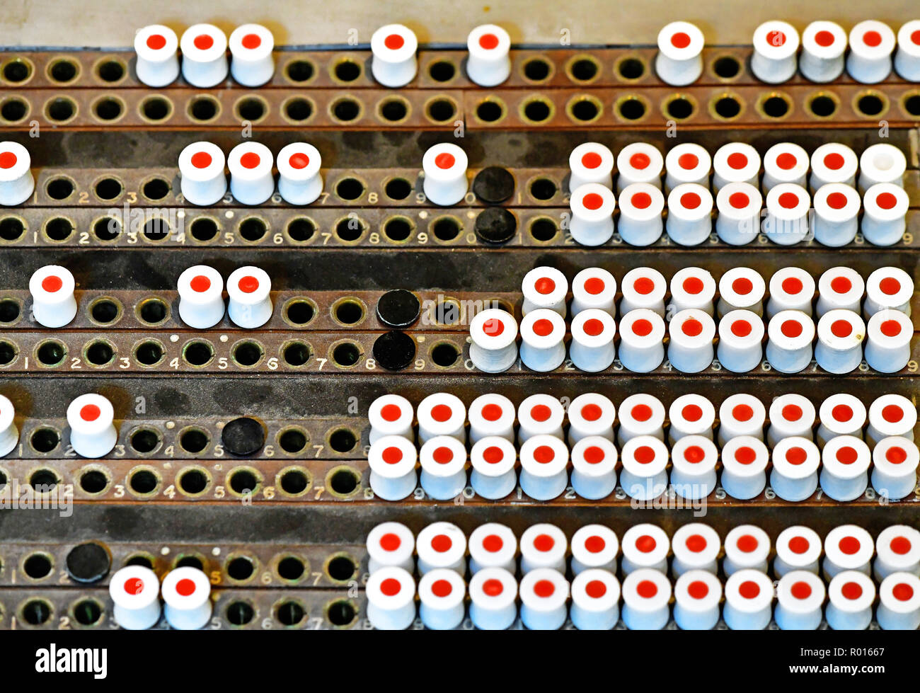 Bletchley Park part of Colossus decoding machine plugboard system Stock Photo