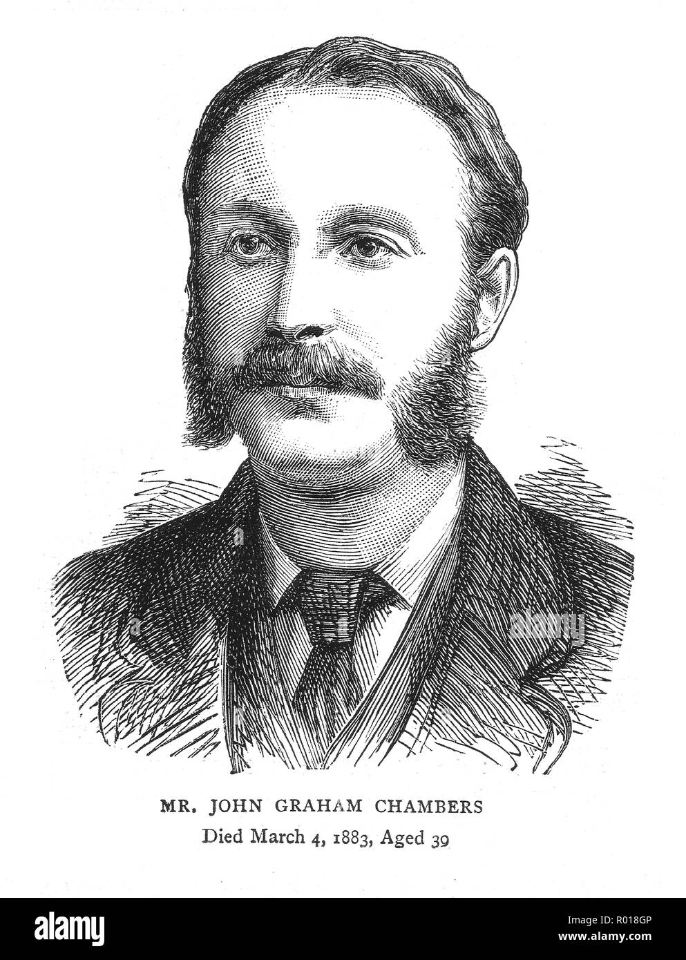 John Graham Chambers (1843-1883) was born in Llanelli, Camarthenshire, Wales, and compiled the Queensbury / Queensberry rules for boxing in 1867. - Stock Image