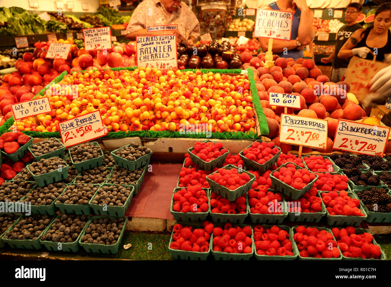 Fruit stand - Stock Image