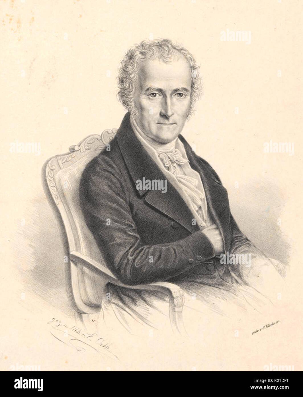 Karl Friedrich von Gaertner (1772 – 1850) German botanist - Stock Image