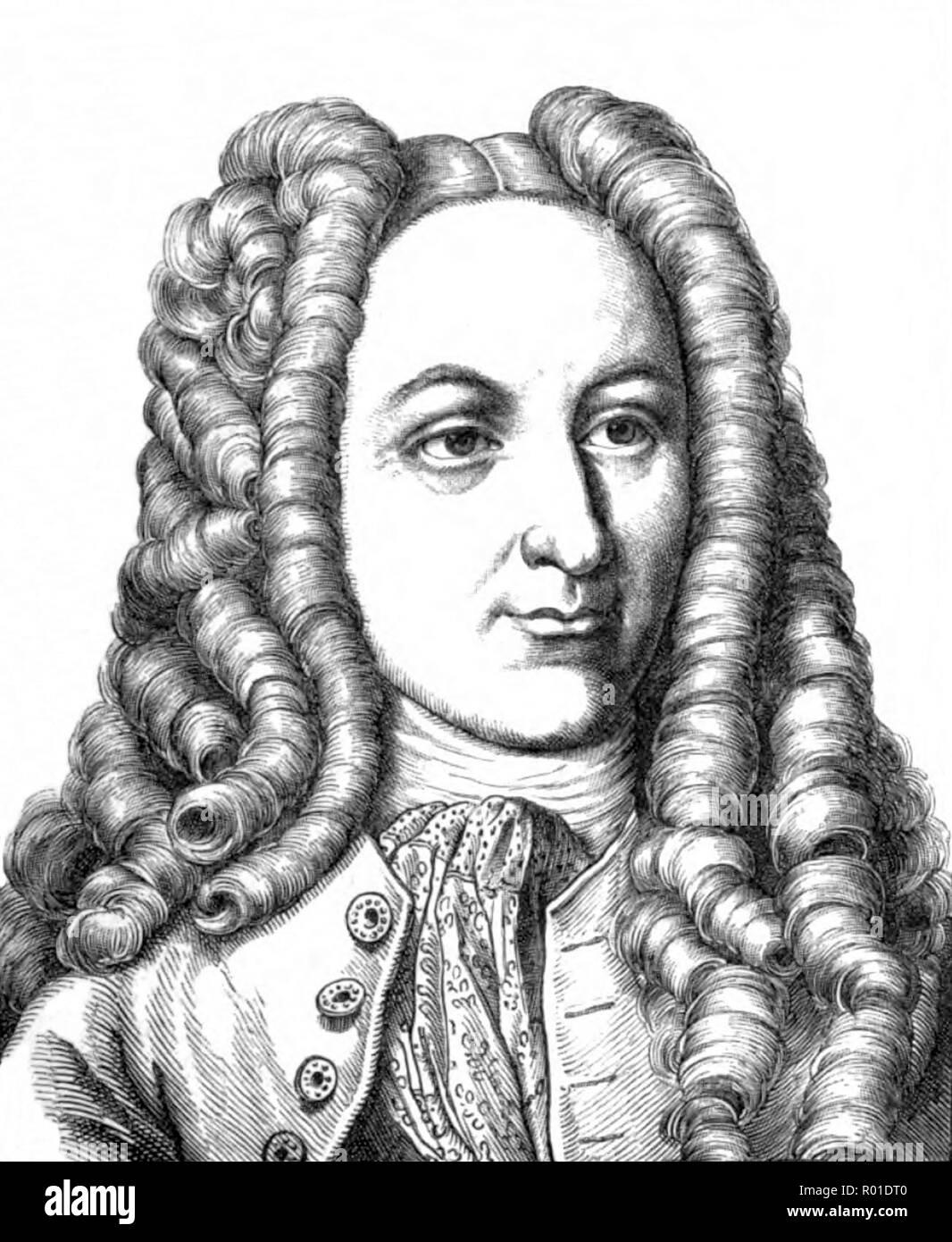 Johann Georg von Eckhart (1664 – 1730) German historian and linguist - Stock Image