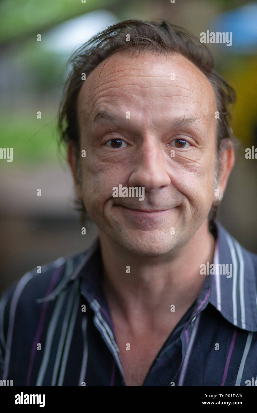 Portrait of David Yow, actor and vocalist for The Jesus Lizard. - Stock Image