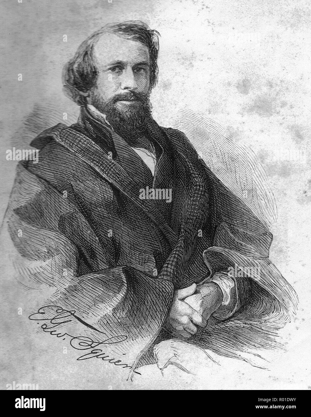 Ephraim George Squier (1821 – 1888), E. G. Squier, American archaeologist and newspaper editor - Stock Image