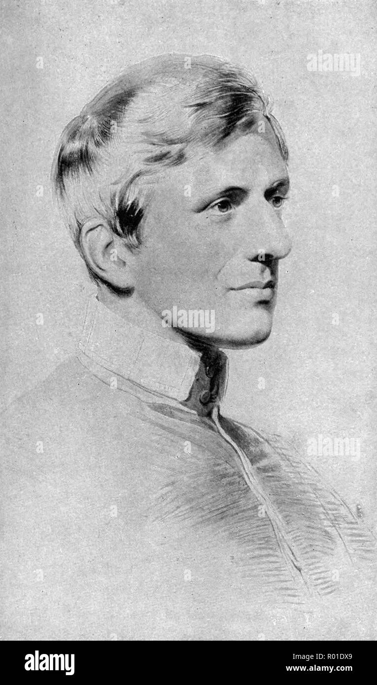 John Henry Newman, (1801 – 1890) poet and theologian, Anglican priest and later a Catholic priest and cardinal, who was an important and controversial figure in the religious history of England in the 19th century - Stock Image