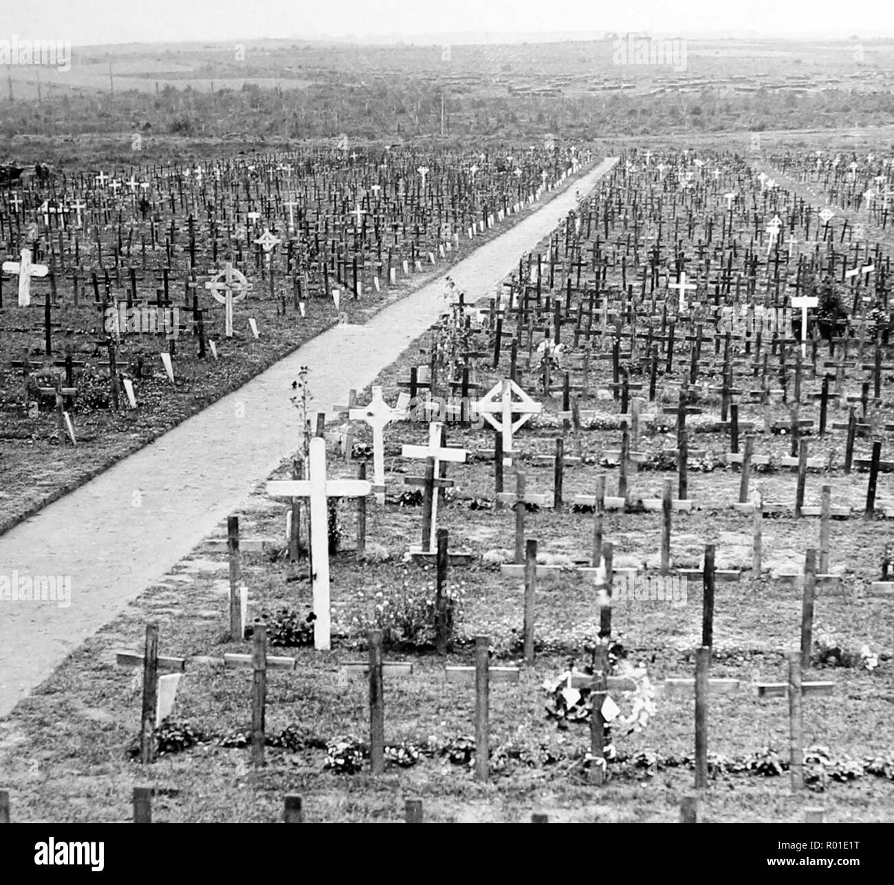 Hooge Cemetery during the First World War - Stock Image
