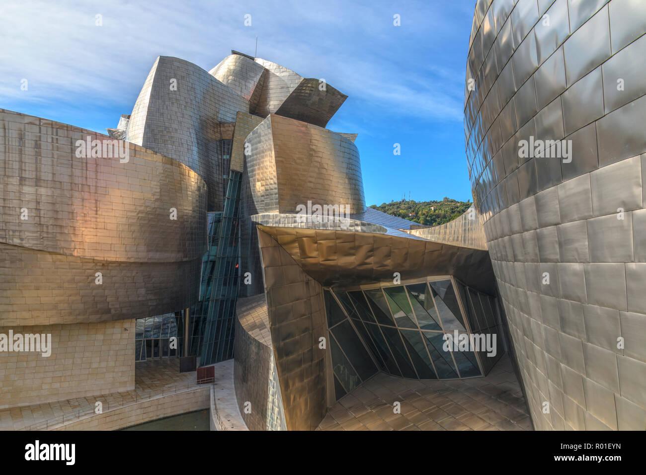 Guggenheim Museum, Bilbao, Basque Country, Spain, Europe Stock Photo