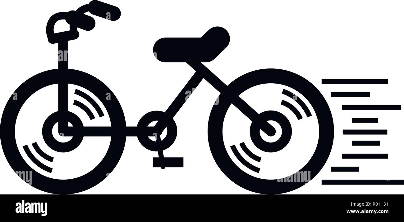 Running bicycle icon simple style stock image