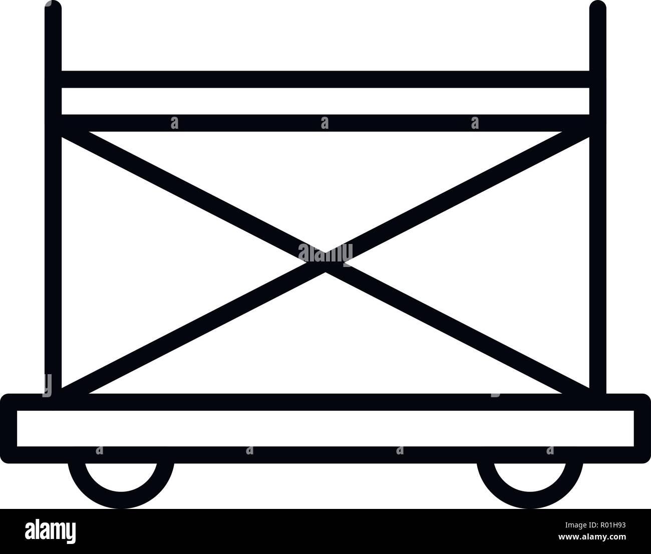 Wheel scaffold icon, outline style Stock Vector