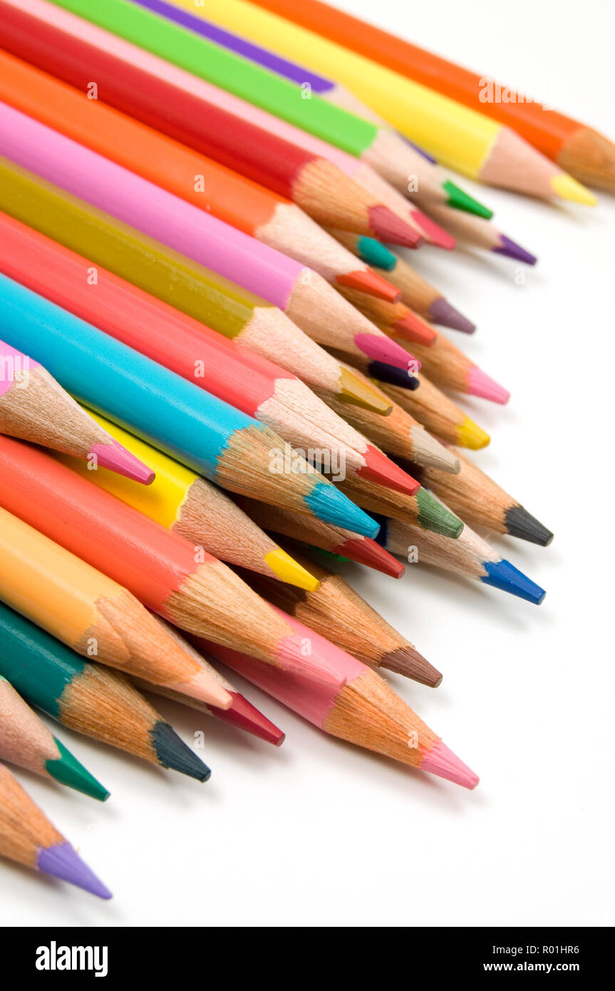 Colorful Abstract Image of Coloring Crayons Close View Stock Photo ...