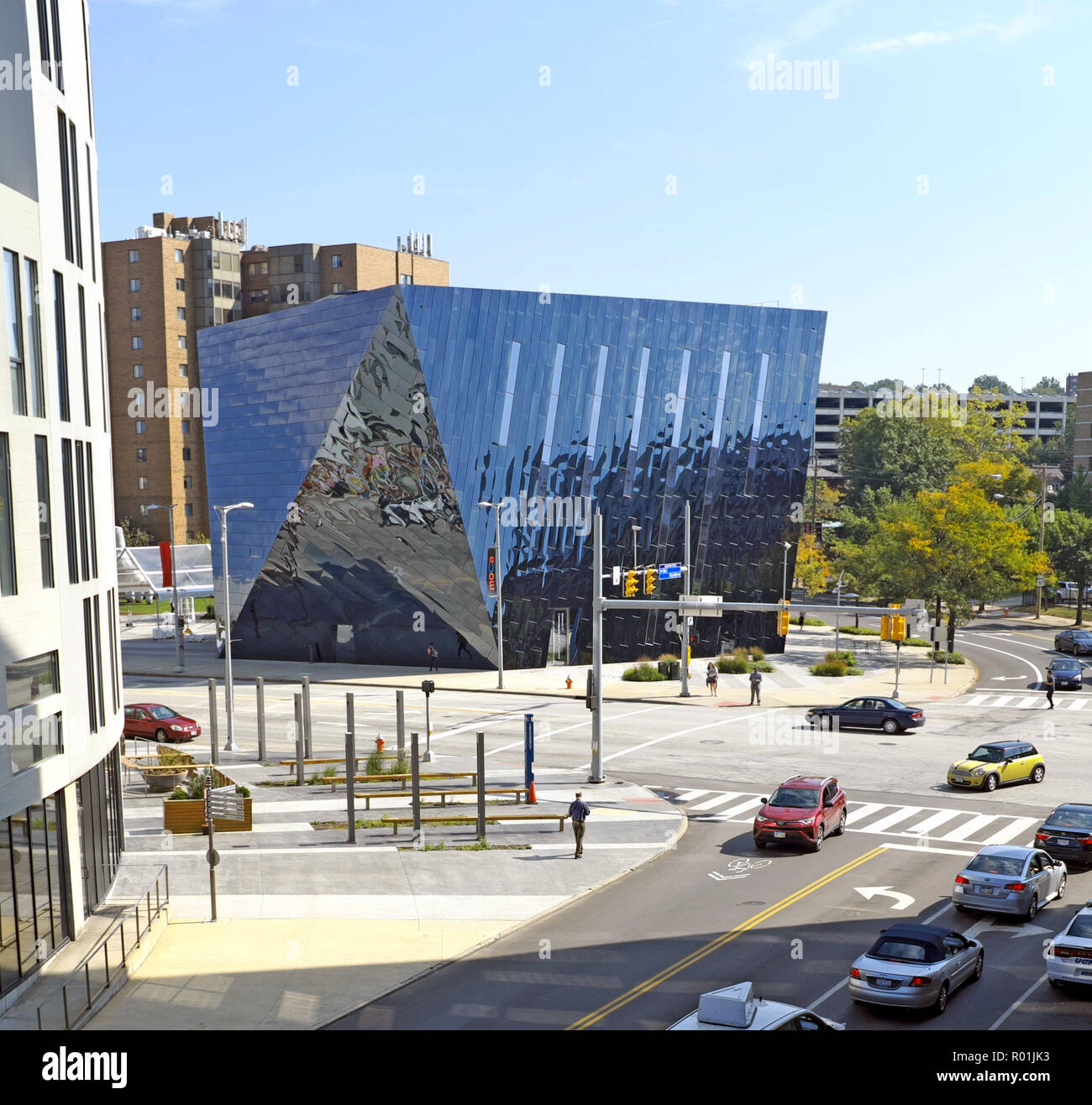A view of the Cleveland Museum of Contemporary Art, MOCA, in the University Circle neighborhood of Cleveland, Ohio, USA. Stock Photo