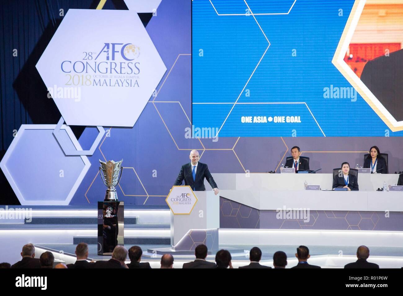 promo code c3147 08234 Kuala Lumpur, Malaysia. 31st Oct, 2018. FIFA President Gianni Infantino (L