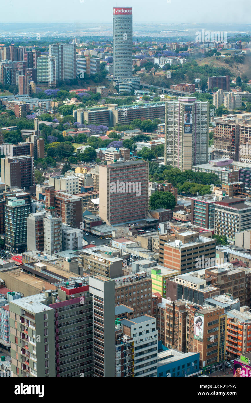 Johannesburg, South Africa, 31 October, 2018. The sun breaks through the clouds over Johannesburg, early afternoon Wednesday. Credit: Eva-Lotta Jansson/Alamy Live News - Stock Image