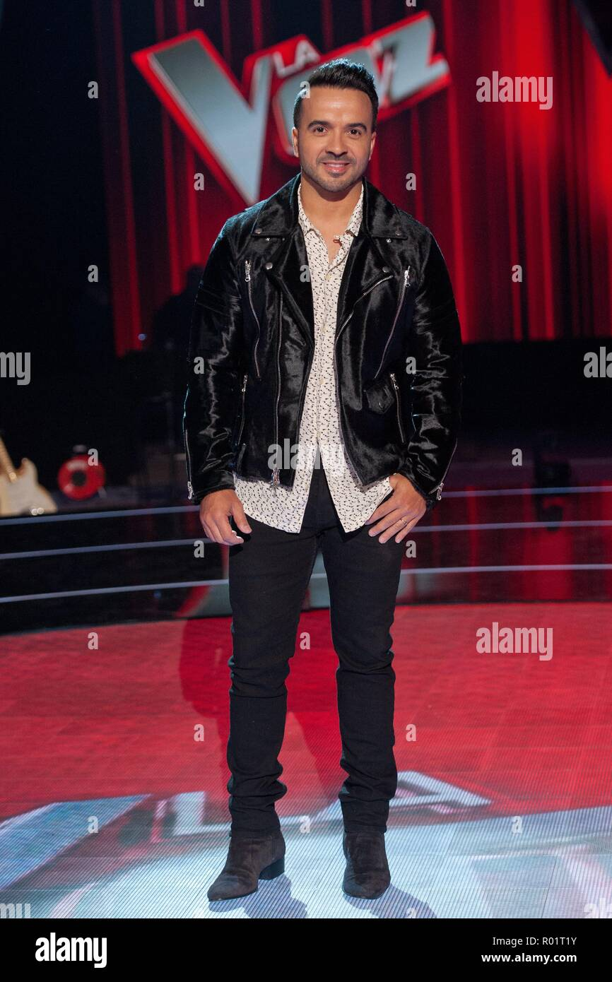 Luis Fonsi during presentation of tv program La Voz in Madrid on Wednesday , 31 october 2018 - Stock Image