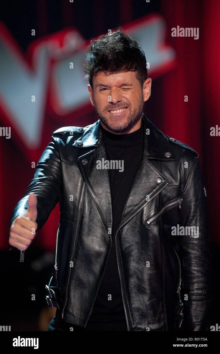 Pablo Lopez during presentation of tv program La Voz in Madrid on Wednesday , 31 october 2018 - Stock Image