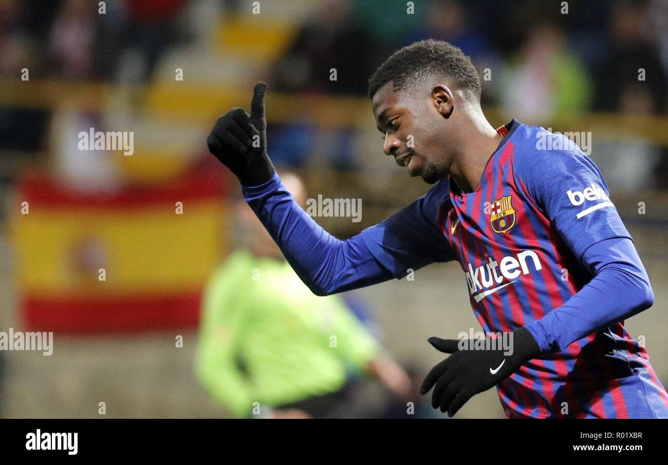 FC Barcelona's Ousmane Dembele during the King's Cup round of 32 match between Cultural Leonesa and FC Barcelona, at the Reino de Leon stadium, in Leon, Spain, 31 October 2018. EFE/Lavandeira Jr - Stock Image