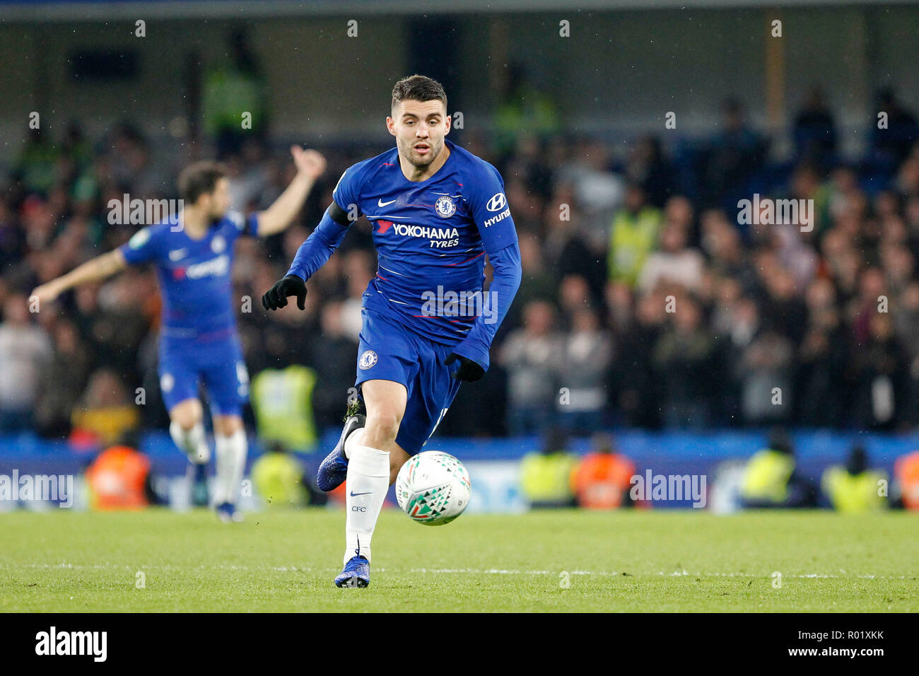 Mateo Kovačić of Chelsea during the EFL Carabao Cup Round of 16 match between Chelsea and Derby County at Stamford Bridge, London, England on 31 October 2018. Photo by Carlton Myrie.  Editorial use only, license required for commercial use. No use in betting, games or a single club/league/player publications. - Stock Image