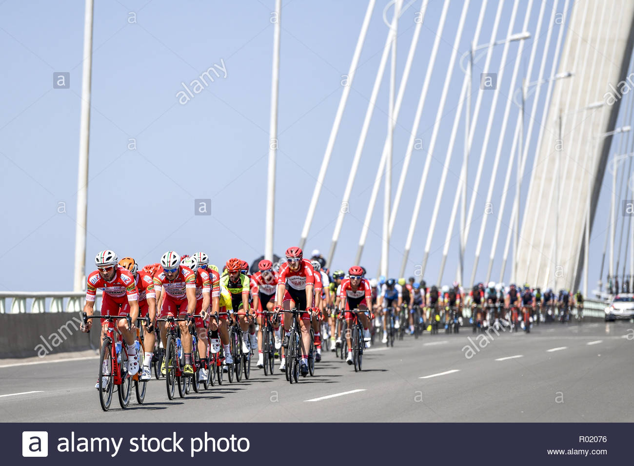 Changjiang, China. 31st Oct, 2018. 2018 around island cycling race the 9th stage held in Changjiang, Hainan, China on 31 October 2018.(Photo by TPG/CNS) Credit: TopPhoto/Alamy Live News - Stock Image