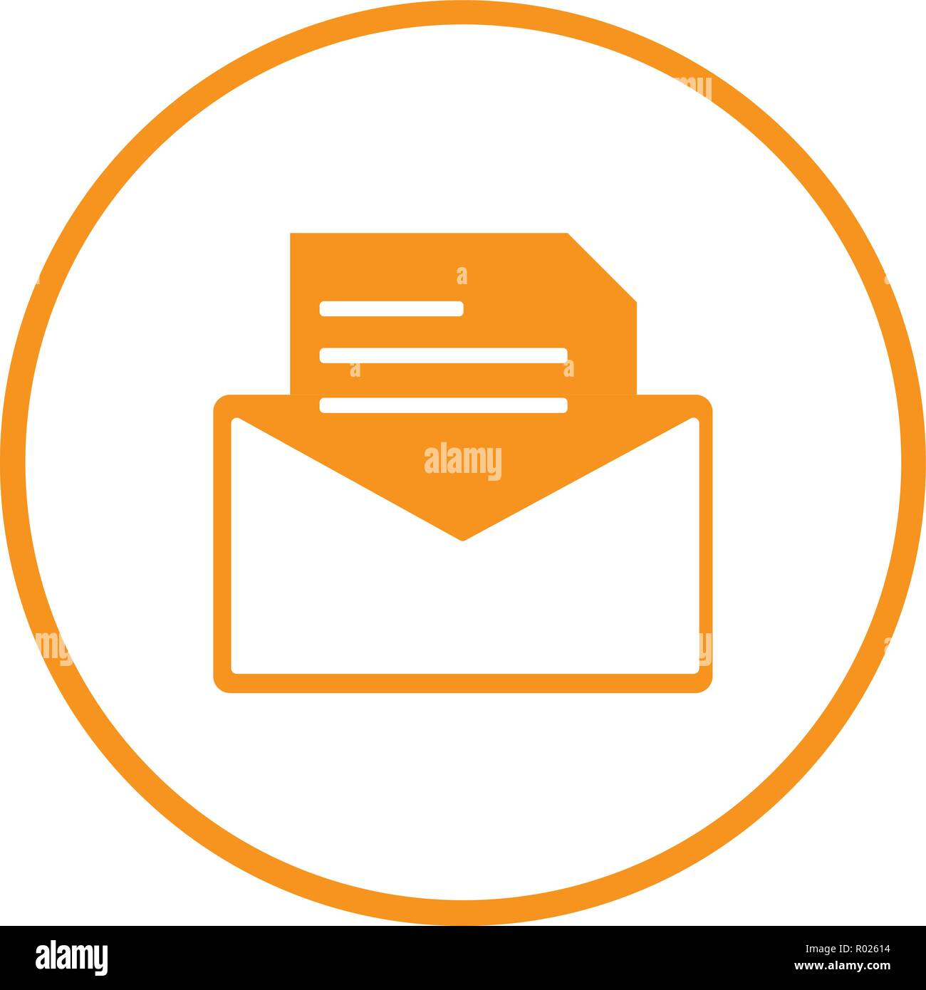 open envelope with letter symbol of mail
