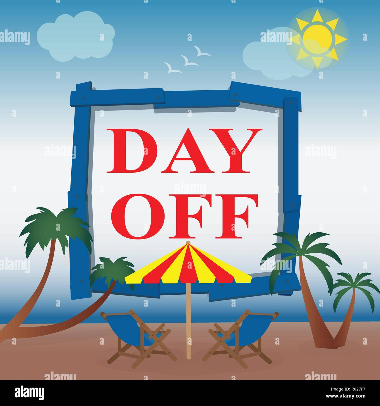 Day off at the seaside - Stock Vector