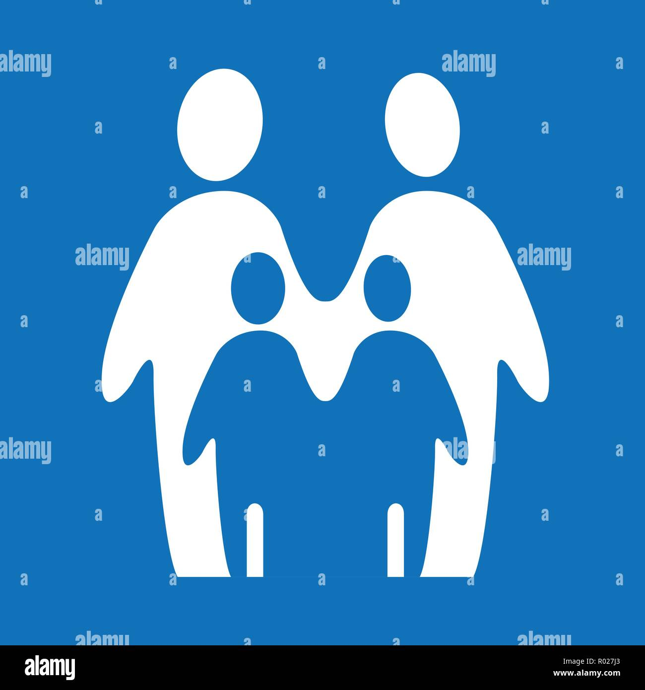 Two silhouettes forming a couple - Stock Image