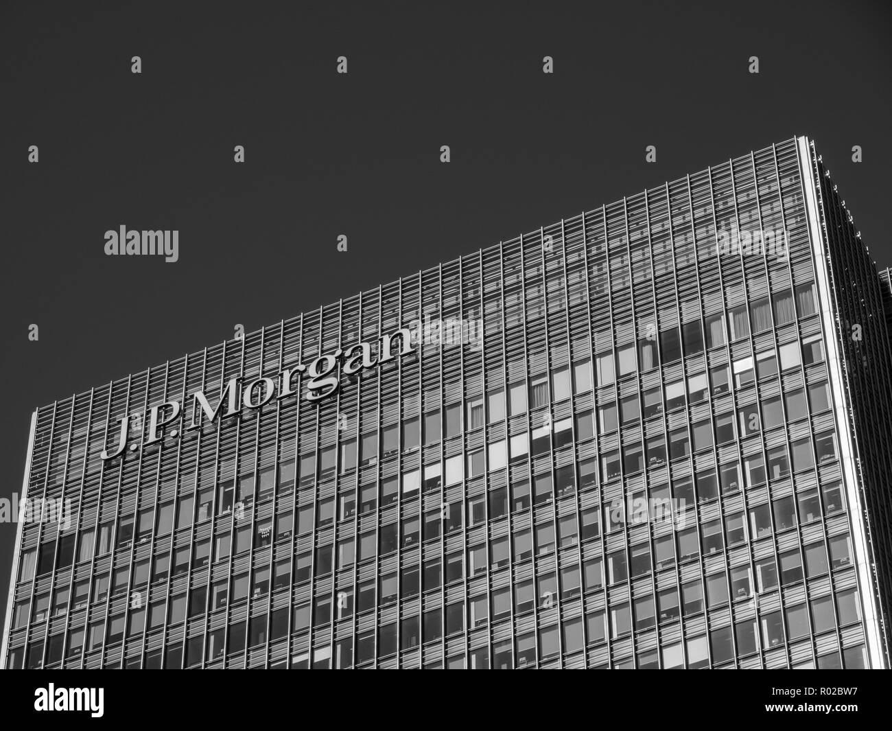 J.P.Morgan Building, Canary Wharf, Docklands, London, England, UK, GB. - Stock Image