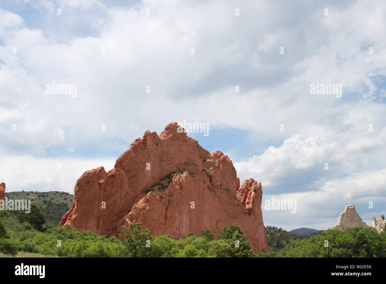 Garden of the Gods, Colorado Springs, Colorado - Stock Image