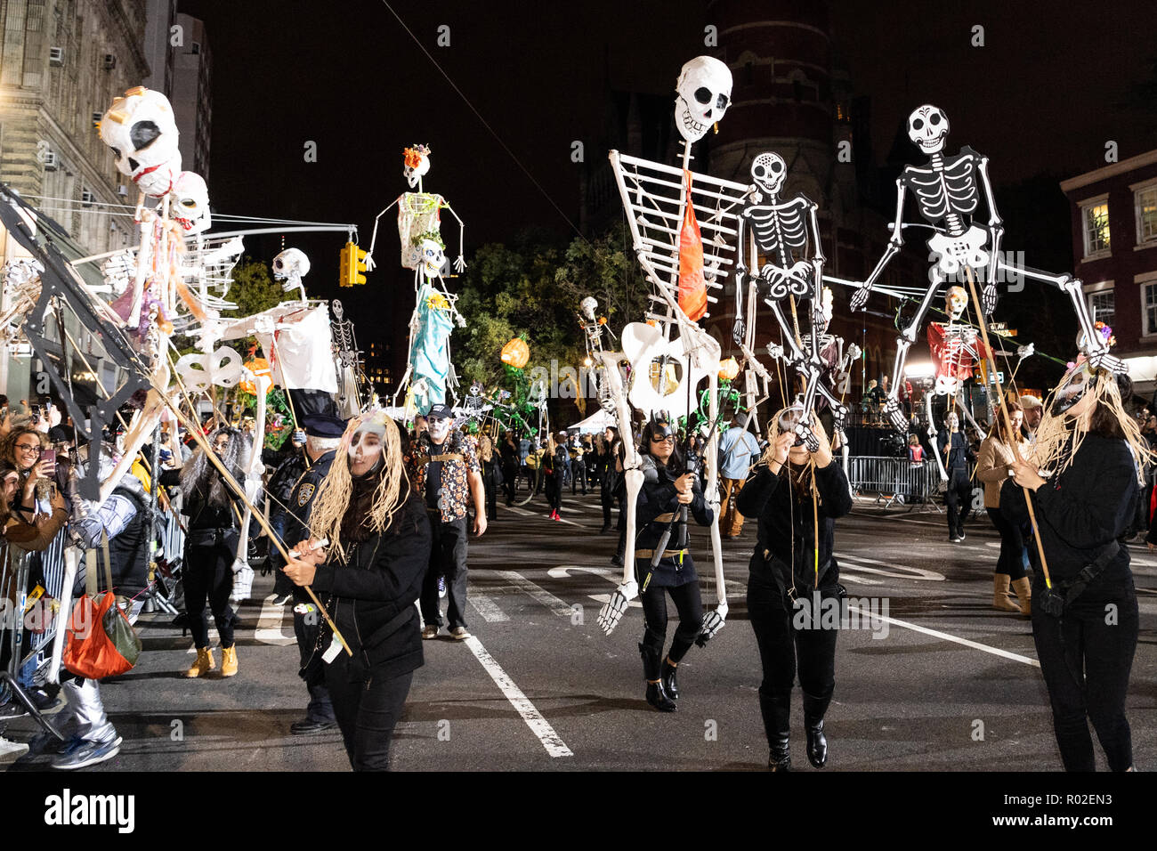 New York City Halloween Parade.Hundreds Of People Participated In The 45th Annual Greenwich Village