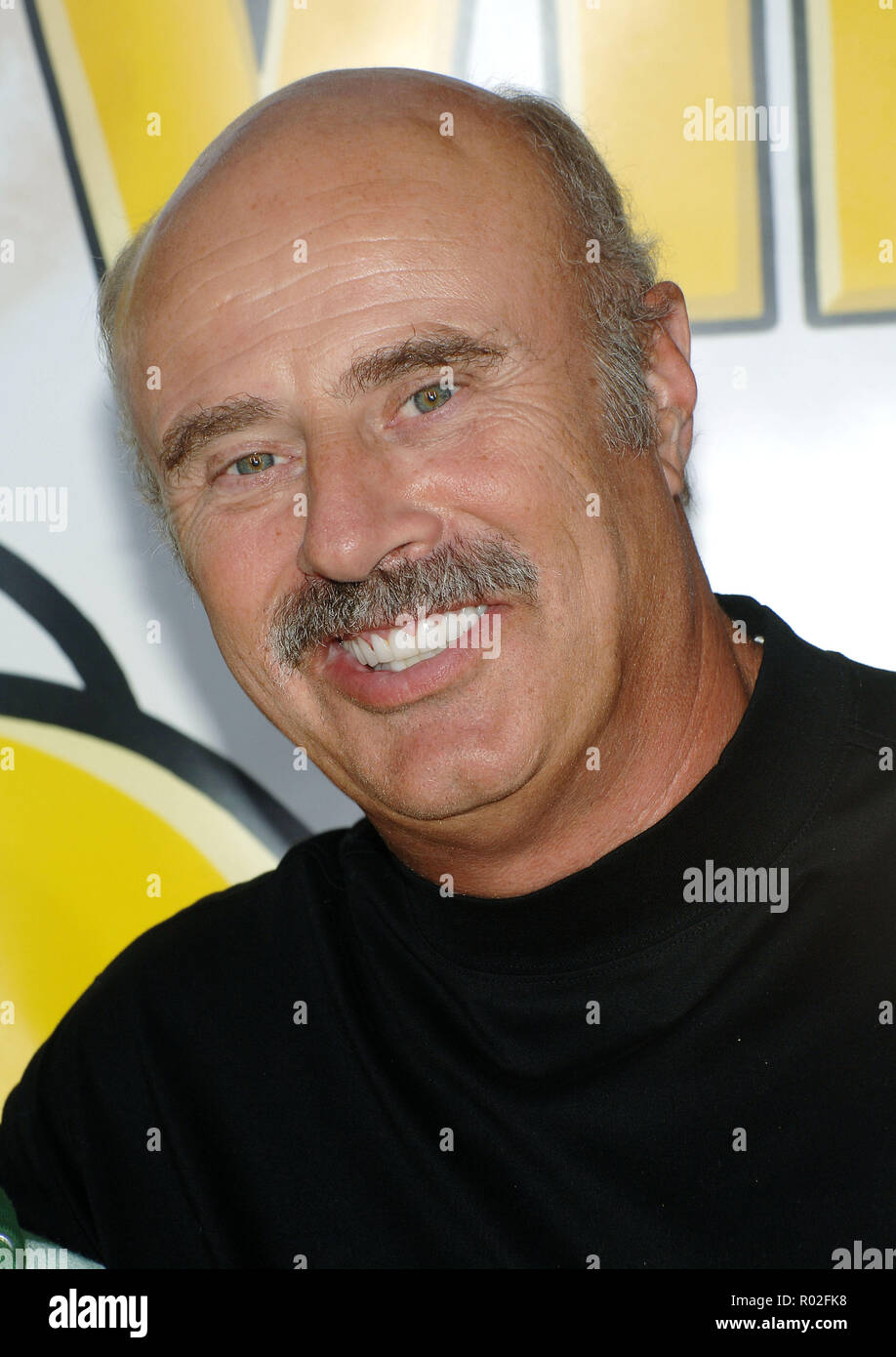 Dr Phil McGraw arriving at The Simpsons, The Movie Premiere