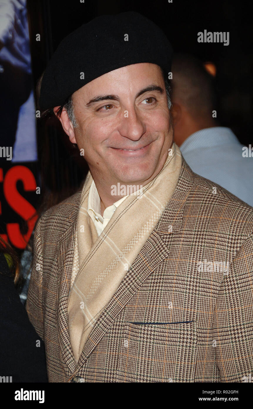Andy Garcia arriving at the Smokin' Aces at the Chinese Theatre In Los Angeles. January 18, 2007.  smile headshotGarciaAndy_KeysAlicia040 Red Carpet Event, Vertical, USA, Film Industry, Celebrities,  Photography, Bestof, Arts Culture and Entertainment, Topix Celebrities fashion /  Vertical, Best of, Event in Hollywood Life - California,  Red Carpet and backstage, USA, Film Industry, Celebrities,  movie celebrities, TV celebrities, Music celebrities, Photography, Bestof, Arts Culture and Entertainment,  Topix, headshot, vertical, one person,, from the year , 2007, inquiry tsuni@Gamma-USA.com - Stock Image