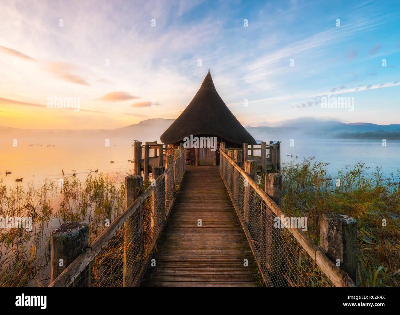 Llangorse Lake Sunrise - Stock Image