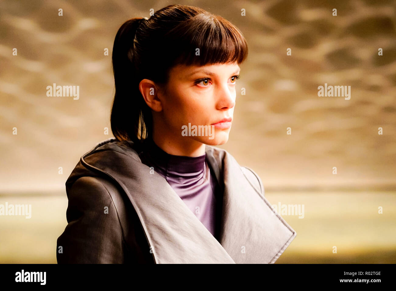 Luv (Sylvia Hoeks) Nexus-9 model Replicant and assistant Niander Wallace from Blade Runner 2049 (2017) directed by Denis Villeneuve. A sequel to the 1982 classic set thirty years later where a new blade runner uncovers a secret. - Stock Image
