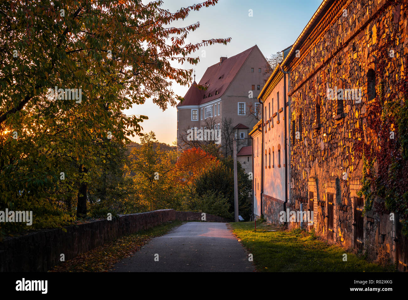 Gnandstein Castle in the Leipzig district, Kohren-Sahlis | Burg Gnandstein im Leipziger Land, Kohren-Sahlis, Germany - Stock Image