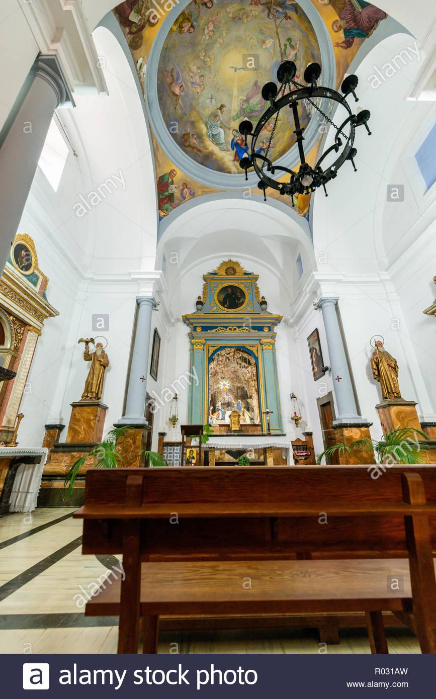 Inside chapell of Ermita de Betlem, Majorca, Spain - Stock Image