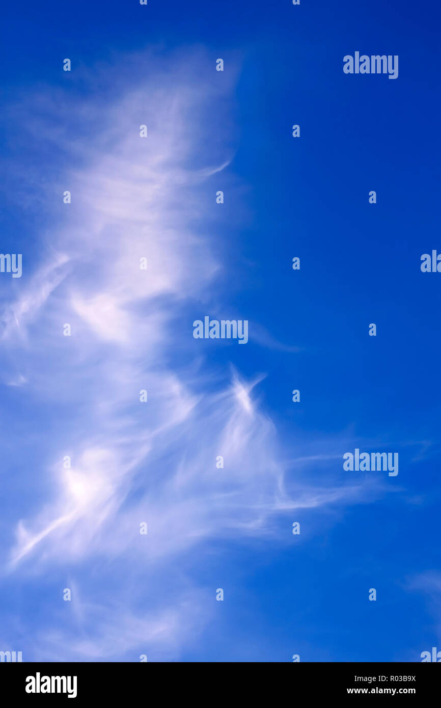 Abstract image of white clouds in blue sky - Stock Image