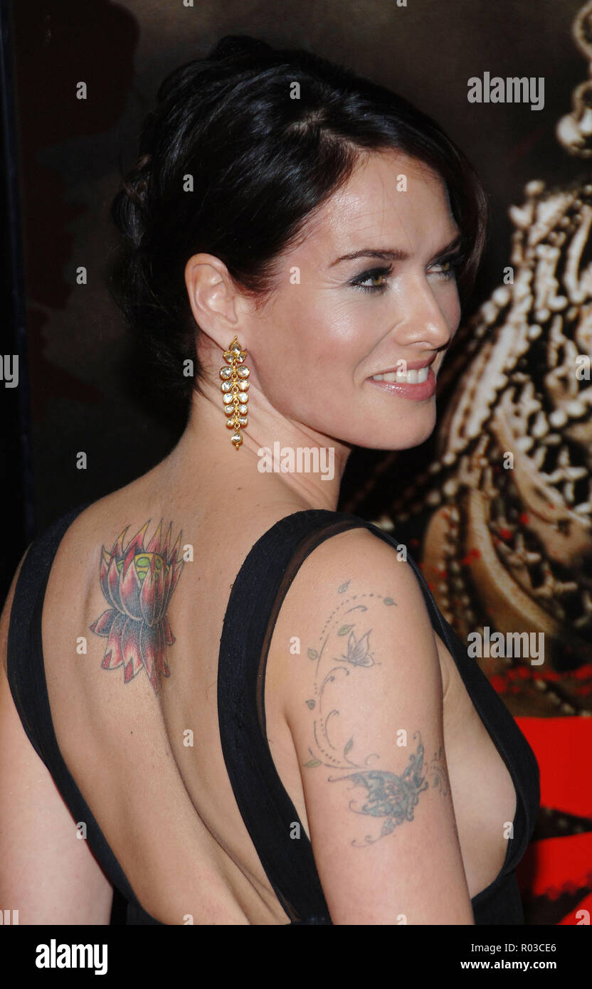Lena Headey Arriving At The 300 Premiere At The Chinese