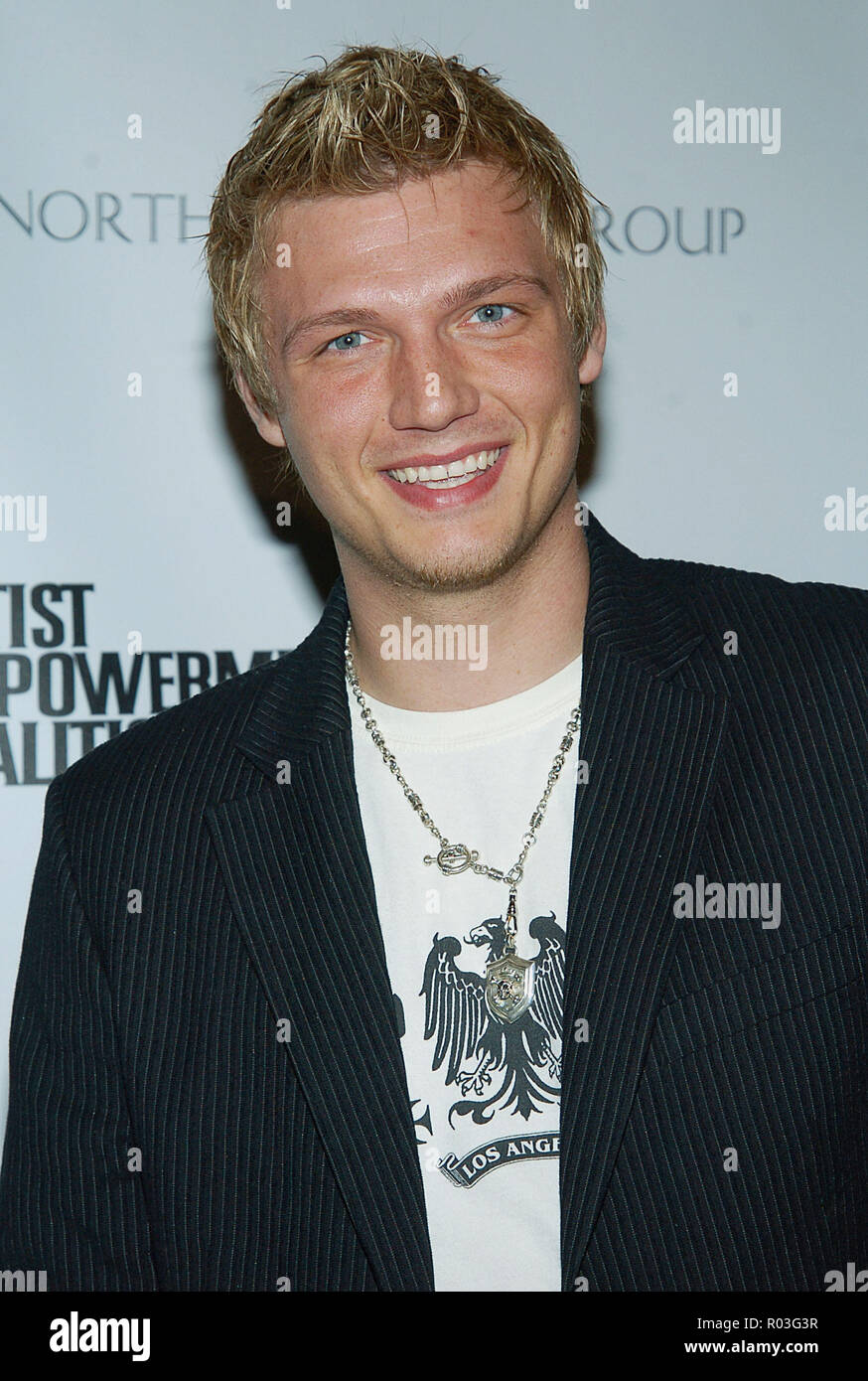 Nick Carter arriving at the 3rd Annual Empowerment Coalition Pre-Grammy Brunch at the bevely Hilton in Los Angeles. February 12, 2005.06-CarterNick125 Red Carpet Event, Vertical, USA, Film Industry, Celebrities,  Photography, Bestof, Arts Culture and Entertainment, Topix Celebrities fashion /  Vertical, Best of, Event in Hollywood Life - California,  Red Carpet and backstage, USA, Film Industry, Celebrities,  movie celebrities, TV celebrities, Music celebrities, Photography, Bestof, Arts Culture and Entertainment,  Topix, headshot, vertical, one person,, from the year , 2005, inquiry tsuni@Gam - Stock Image