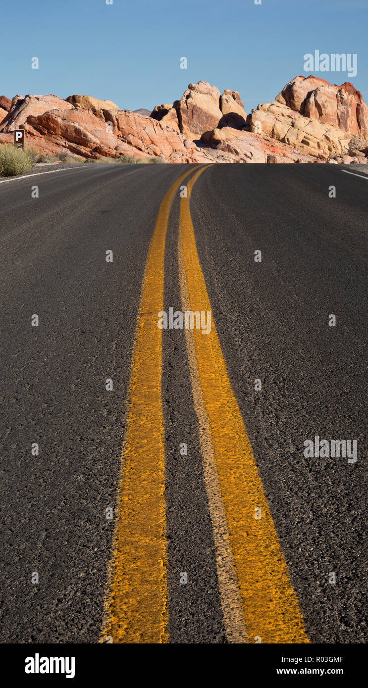 NV00074-00...NEVADA - The White Domes Road in Valley of Fire State Park. Stock Photo