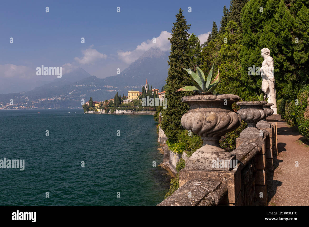 Statue in the gardens of Villa Monastero at Varenna on Lake Como, ItalyStock Photo