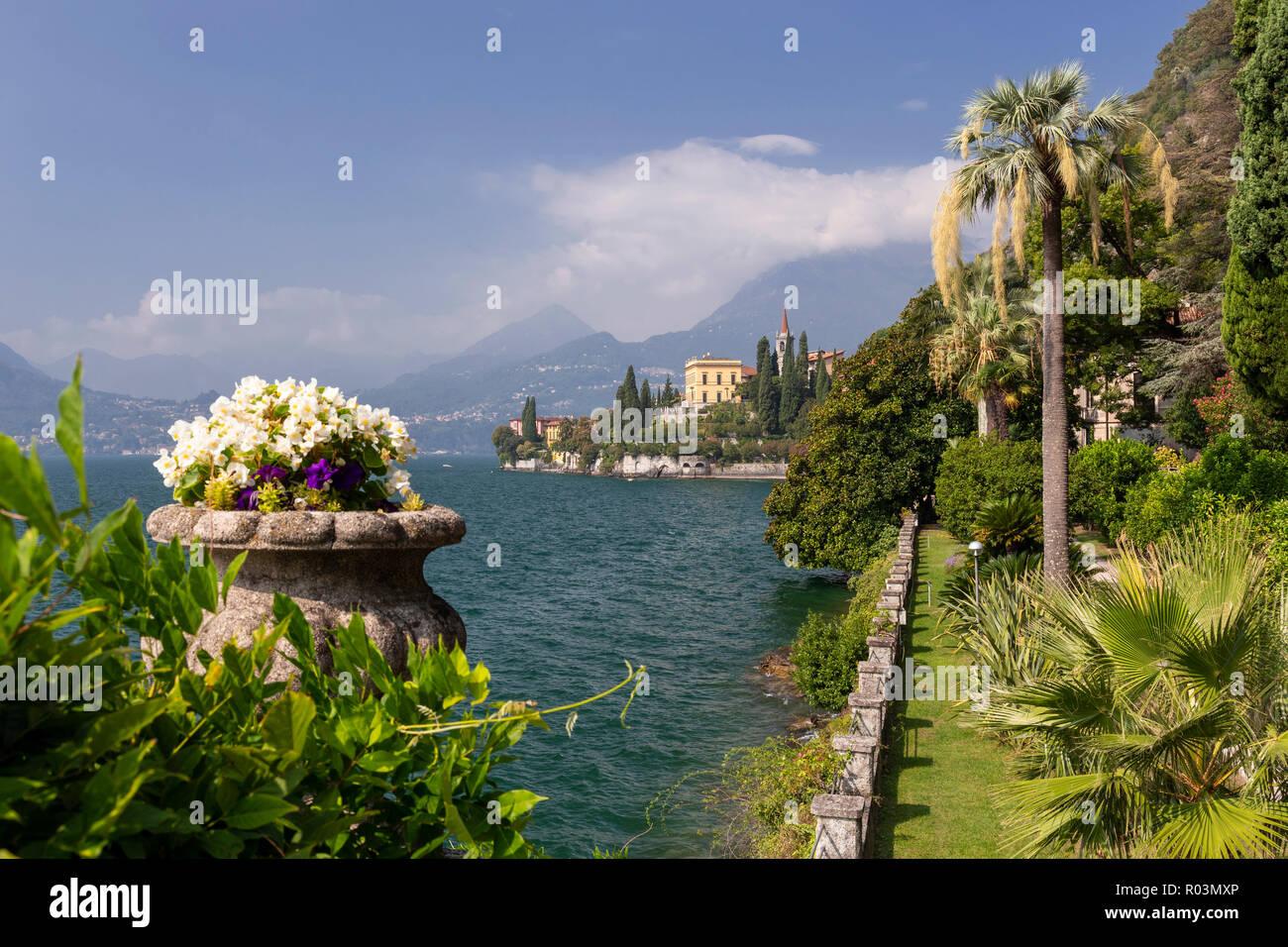 Gardens and buildings of Villa Monastero at Varenna on Lake Como, ItalyStock Photo