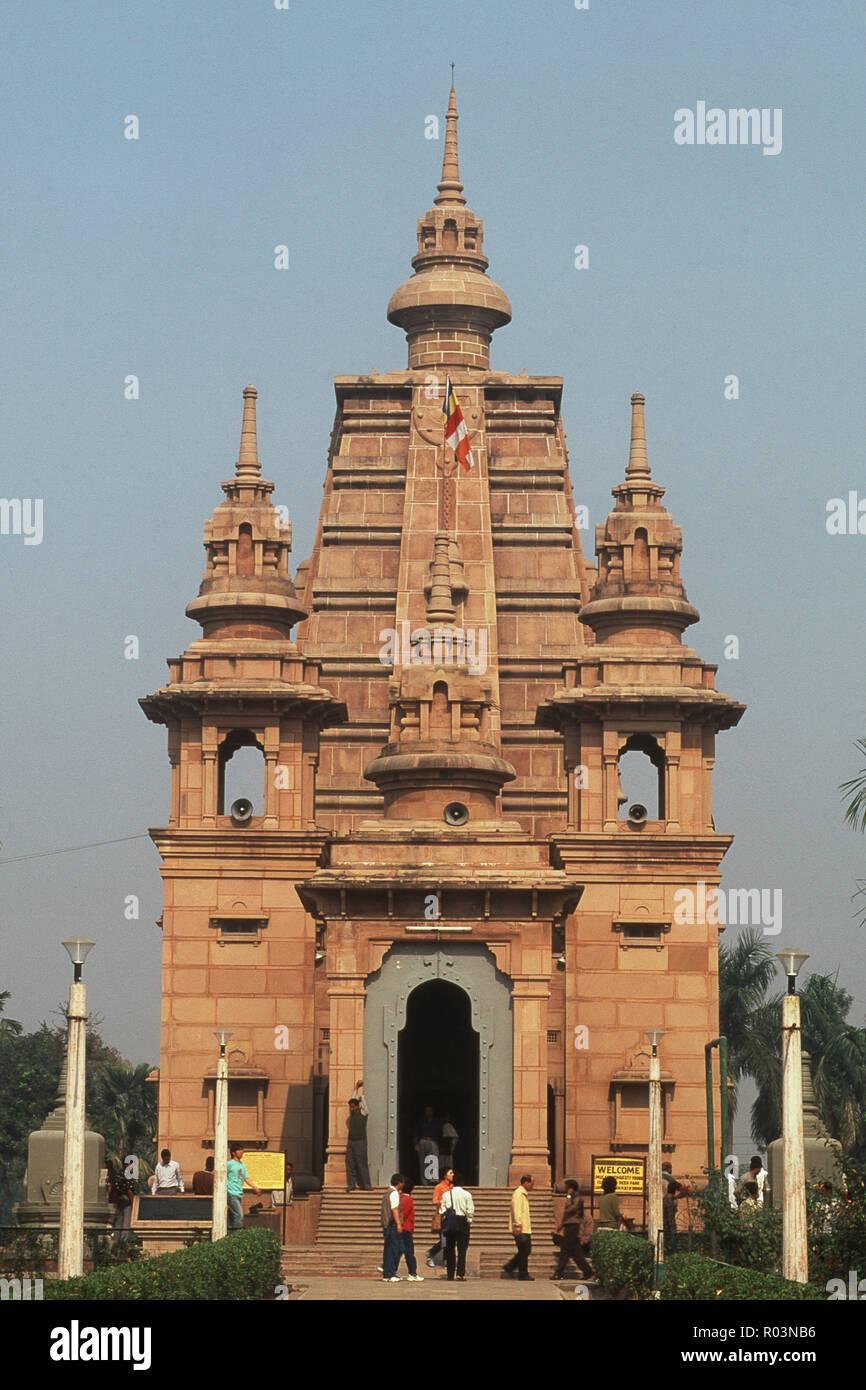 Mulagandha Kuti Vihar, Sarnath, Varanasi, Uttar Pradesh, India, Asia - Stock Image