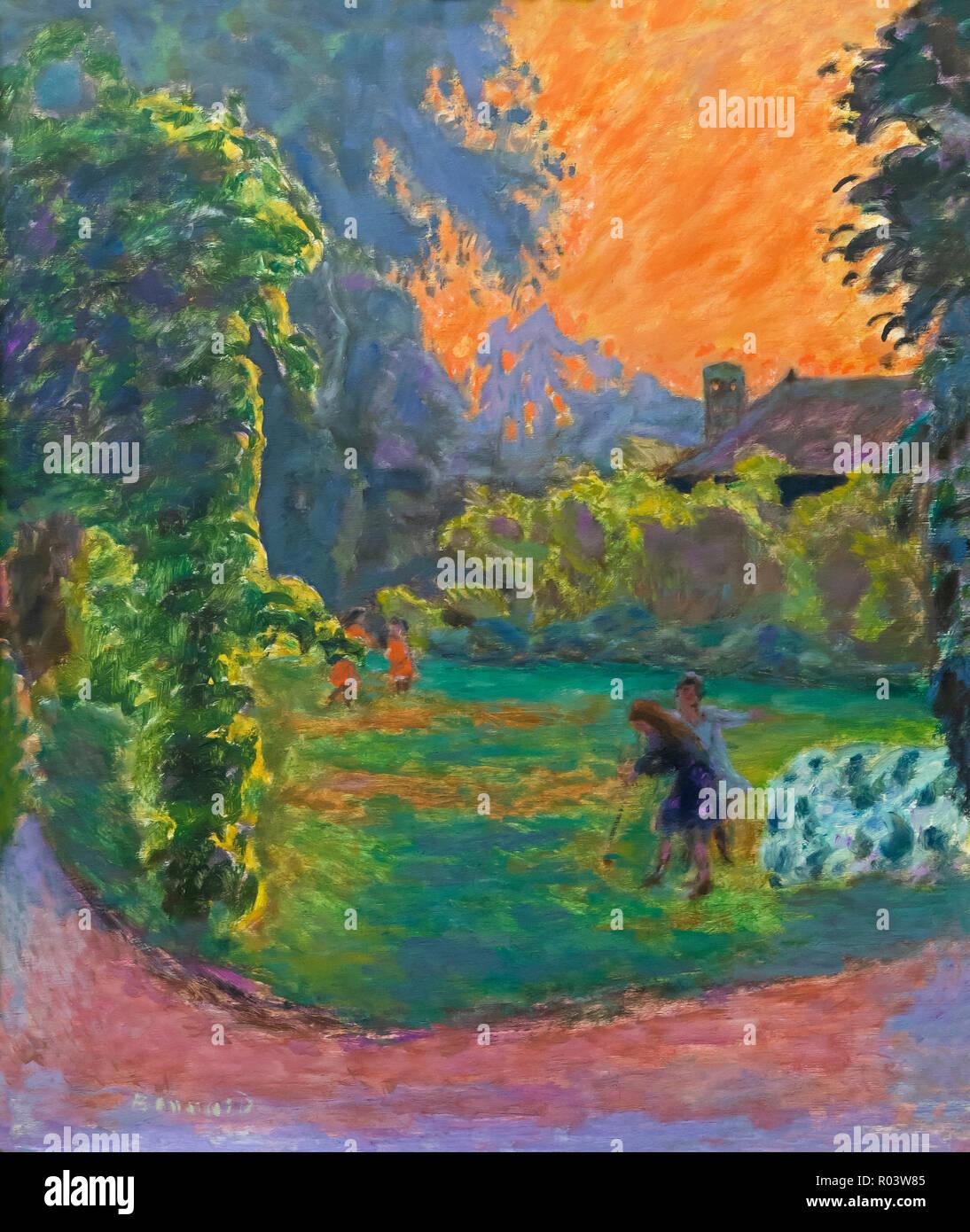 Sunset, Pierre Bonnard, 1912, Zurich Kunsthaus, Zurich, Switzerland, Europe - Stock Image