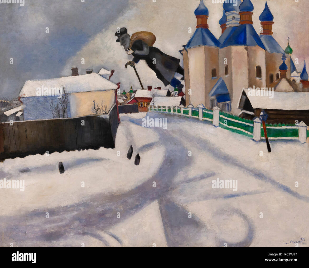 Above Vitebsk, Marc Chagall, 1922, Zurich Kunsthaus, Zurich, Switzerland, Europe - Stock Image
