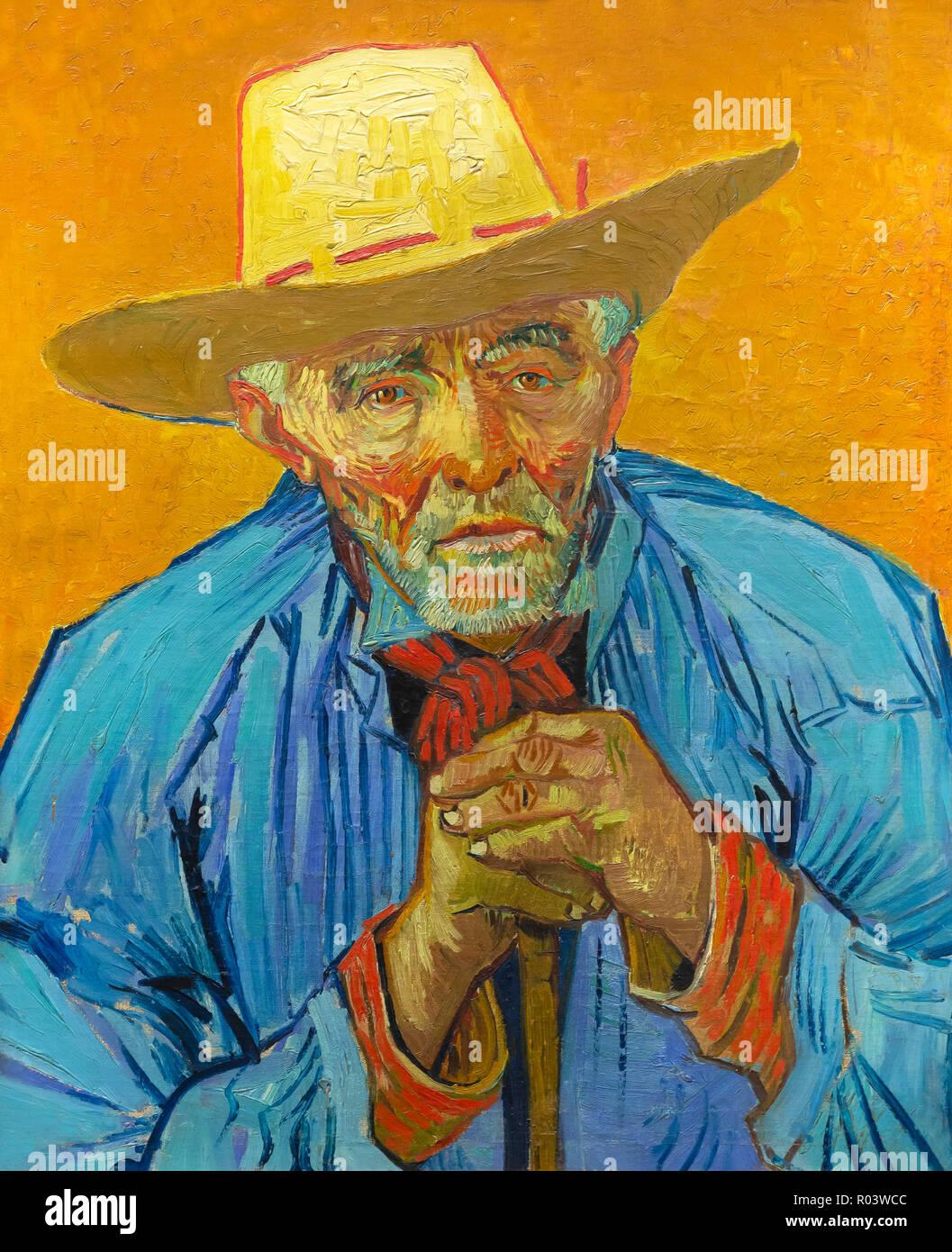Portrait of Patience Escalier, Vincent van Gogh, 1888, Zurich Kunsthaus, Zurich, Switzerland, Europe Stock Photo