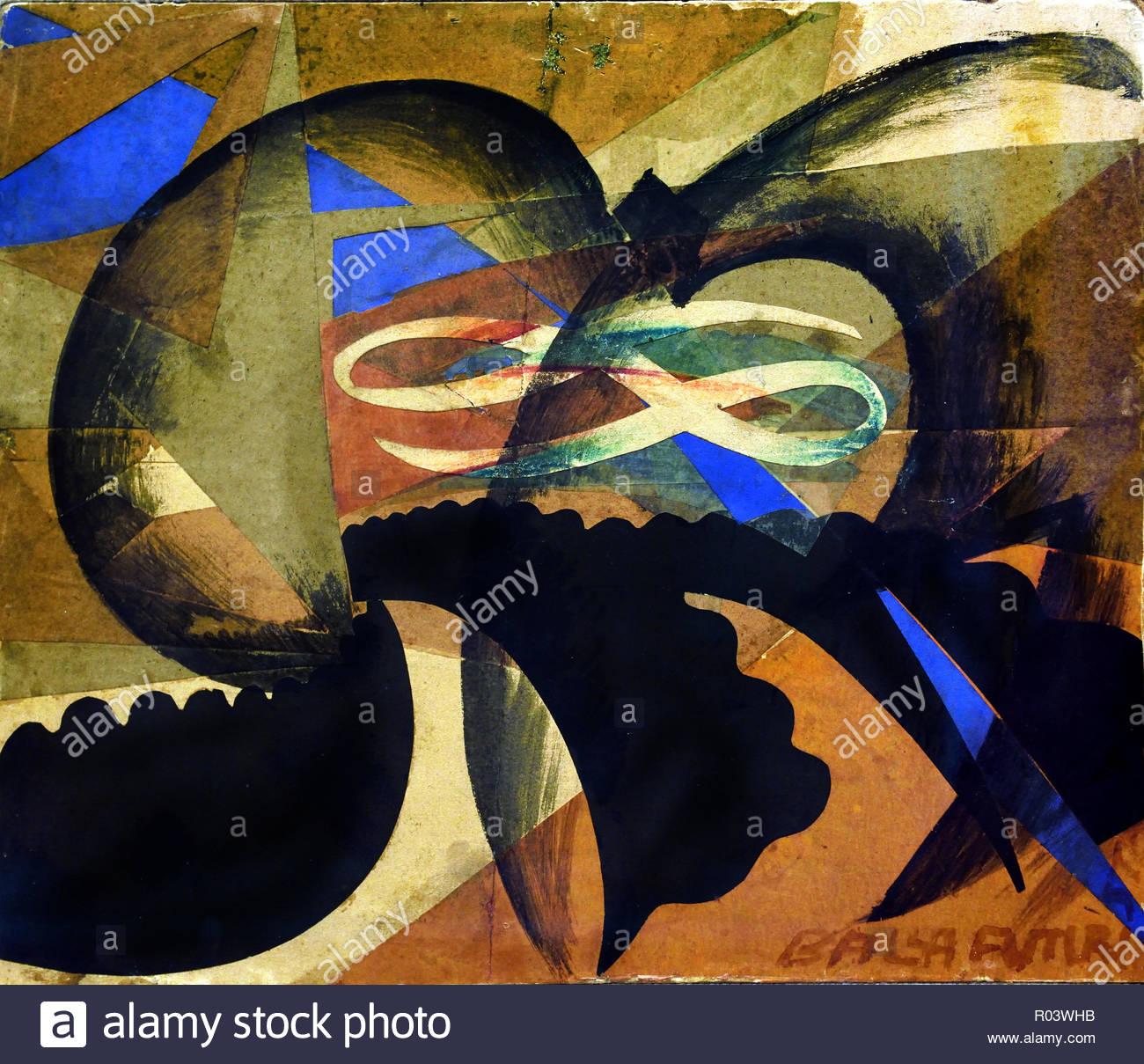 Waving (Patriotic demonstration) Giacomo Balla 1915 Italy, Italian, - Stock Image