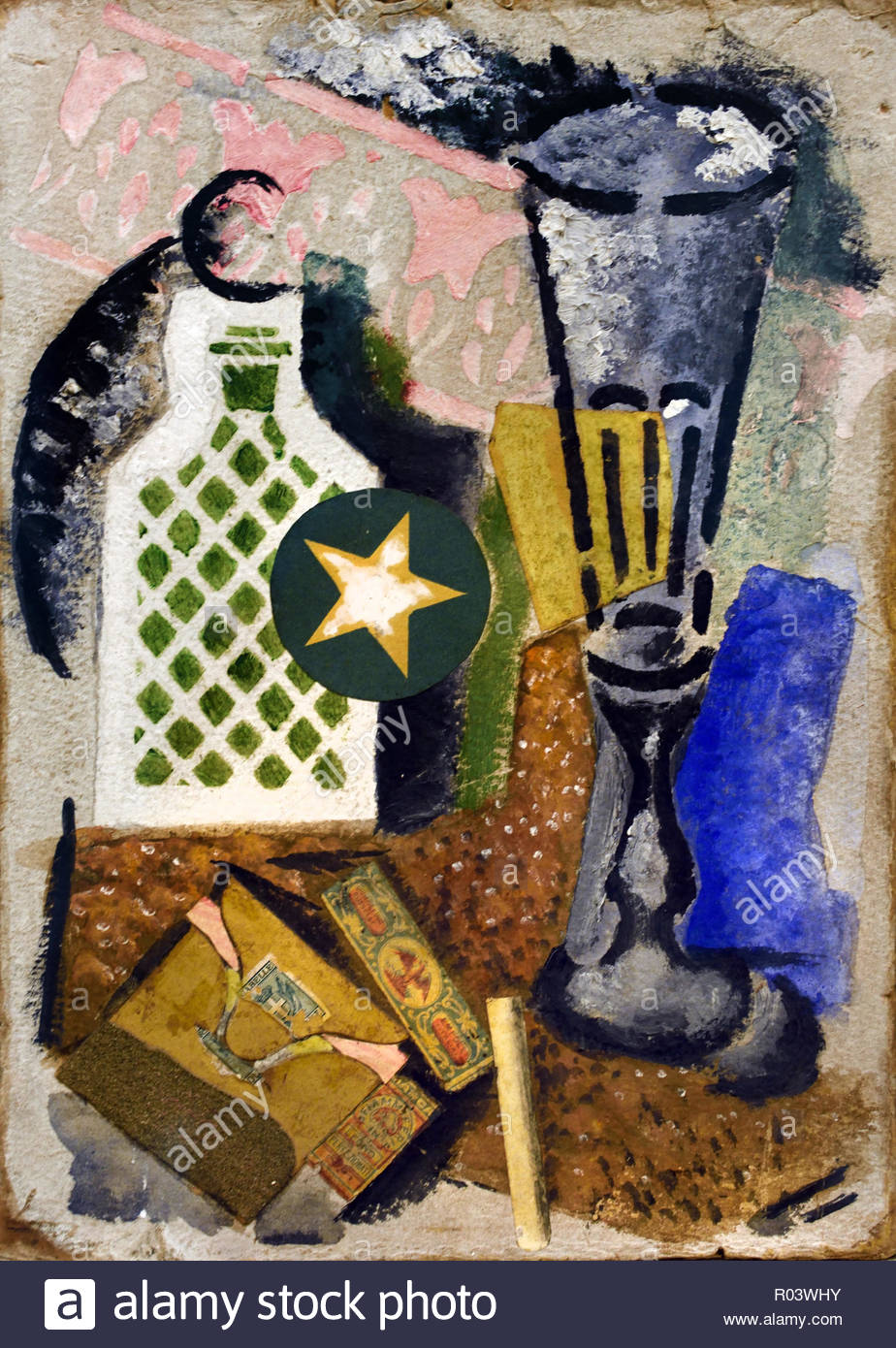 Composition with Matches 1914 Ardengo Soffici, Italy, Italian, - Stock Image
